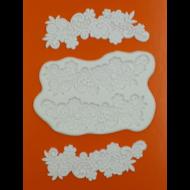 Szilikon forma virágos szalag