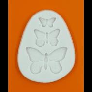 Szilikon forma pillangók
