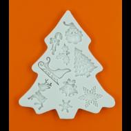 Szilikon forma karácsonyfa