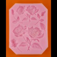 Szilikon forma szálas rózsa