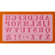 Szilikon forma nyomtatott betűk
