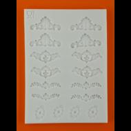 Szilikon forma mini sarokdíszek