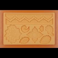 Szilikon forma indiai motívumok