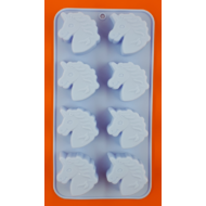 Szilikon csoki öntő forma unikornis 8 darabos