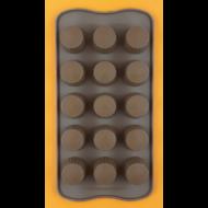 Szilikon csoki öntő forma praliné 15 darabos