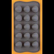 Szilikon csoki öntő forma kagylók 15 darabos