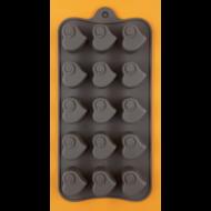 Szilikon csoki öntő forma szívek 15 darabos
