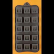 Szilikon csoki öntő forma kockák 15 darabos