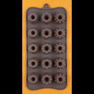 Szilikon csoki öntő forma mini kuglóf 15 darabos
