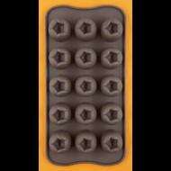 Szilikon csoki öntő forma nyíló tulipán 15 darabos