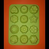 12 darabos vegyes formák szilikon sütőforma