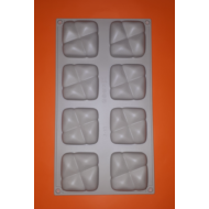 8 darabos szilikon mousse sütőforma