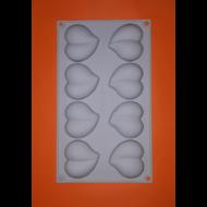 8 darabos szilikon mousse szív sütőforma