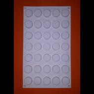 Micro round 35 darabos szilikon mousse sütőforma