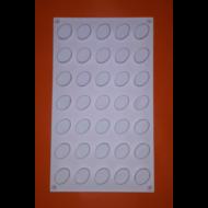 Micro oval 35 darabos szilikon mousse sütőforma