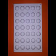 Micro dome 35 darabos szilikon mousse sütőforma