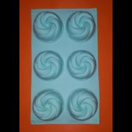 örvény 6 darabos szilikon sütőforma