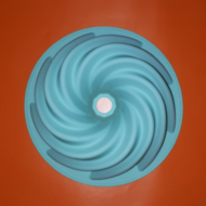 Kuglóf forma 19cm szilikon sütőforma