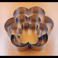 Tortaforma virág közepes