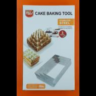 Tortaforma szett téglalap