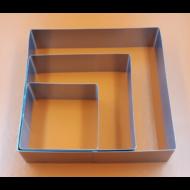 Tortaforma szögletes közepes