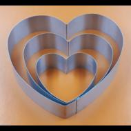 Tortaforma szív közepes