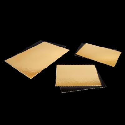 Tortaalátét szögletes 30x40 cm Black & Gold