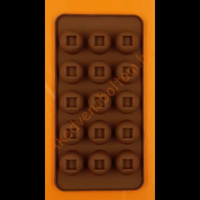 Szilikon csoki öntő forma ablakos 15 darabos