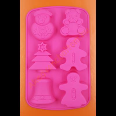 Karácsonyi formák 6 darabos szilikon sütőforma