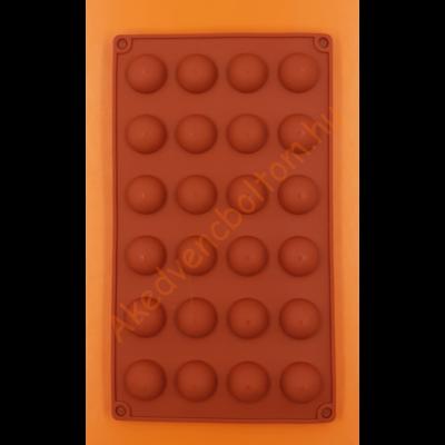 Félgömb kicsi 24 darabos szilikon sütőforma