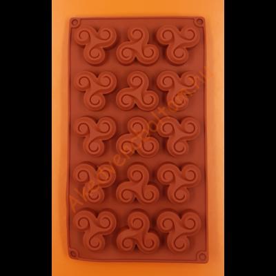 Örvény 15 darabos szilikon sütőforma