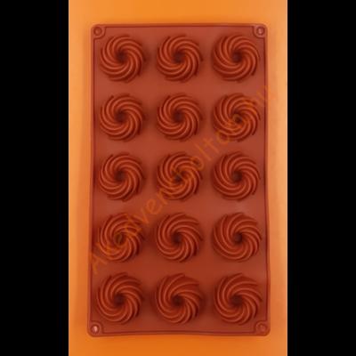 Mini kuglóf forma 15 darabos szilikon sütőforma