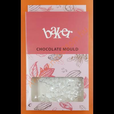 Polikarbonát csoki öntő forma táblás csoki kristály 3 darabos