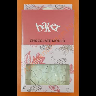 Polikarbonát csoki öntő forma táblás csoki törött üveg 3 darabos
