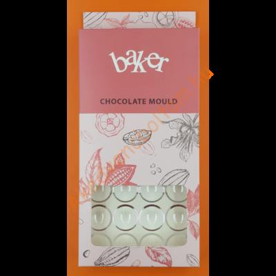 Polikarbonát csoki öntő félgömb forma közepes 32 darabos