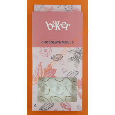 Polikarbonát csoki öntő forma hasított csepp 21 darabos