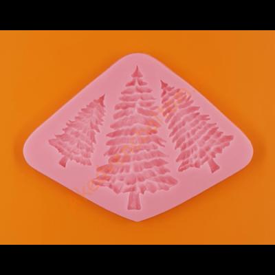 Szilikon forma fenyőerdő