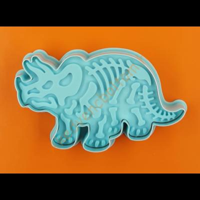Dínó Triceratops kiszúró szett