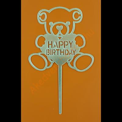 Happy Birthday macival arany beszúrható dísz