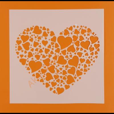 Stencil szív