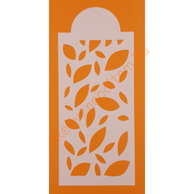 Stencil csík levelek