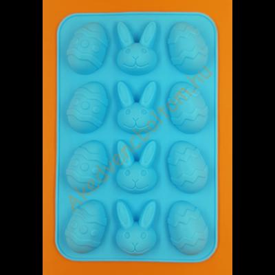 Szilikon csoki öntő és sütő forma húsvét 12 darabos