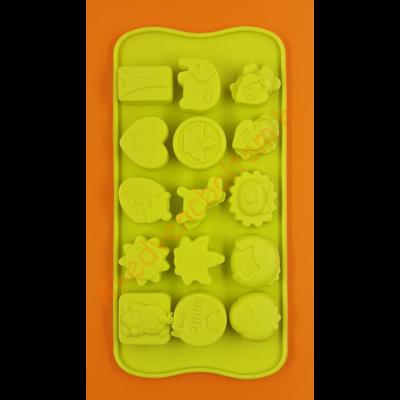 Szilikon csoki öntő forma mókás bonbon 15 darabos