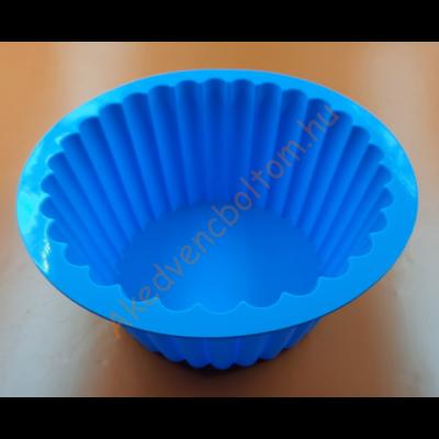 Kerek magas bordás szilikon sütőforma 19 cm