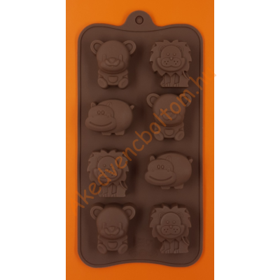 Szilikon csoki öntő forma állatkölykök 8 darabos