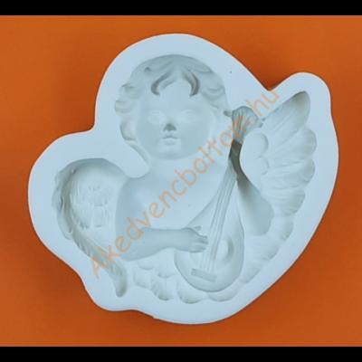 Szilikon forma mandolinos angyal