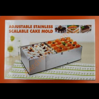 Állítható szögletes magas tortaforma extra nagy 28-53cm