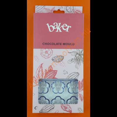 Polikarbonát csoki öntő forma virág 18 darabos