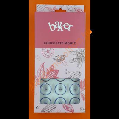 Polikarbonát csoki öntő forma mini kuglóf 21 darabos