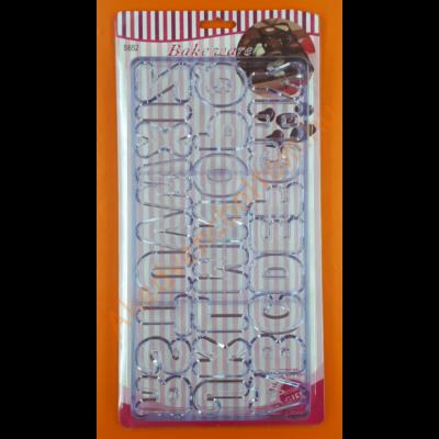 Polikarbonát csoki öntő forma ABC 26 darabos